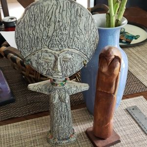 Wooden Goddess statues